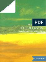 Ideologia Una Brevisima Introduccion - Michael Freeden