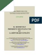 Roosevelt Et Republique Haiti