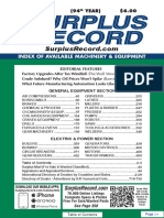 MARCH 2018 Surplus Record Machinery & Equipment Directory