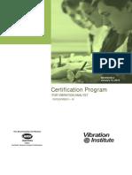 Vibration Analysis Certification Handbook - Final - Rev 5
