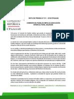 COMISIÓN DE PUEBLOS IMPULSA EDUCACIÓN INTERCULTURAL BILINGÜE