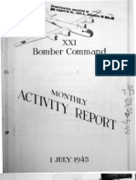 XXI Bomber Command Monthly Activity Reports, July 1945, OCR