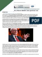 El Hombre Que Enseñó a Warren Buffett Cómo Gestionar Una Empresa - Historias Para No Quebrar