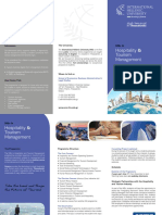 MSc in Hospitality and Tourism Management Brochure
