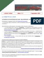 Lassac officiel billet n° 2 (9 septembre 2010)