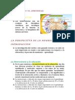 Neurociencias y El Aprendizaje (1)