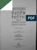 APOFTEGMATY OJCÓW PUSTYNI - TOM 1 - GERONTIKON - KSIĘGA STARCÓW.pdf