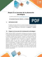 Etapas en El Proceso de Planeacion Estrategica