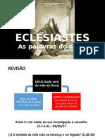 Eclesiastes Aula 6