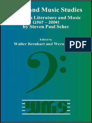 Scherpaul Essays On Literature And Music 1967 2004 Ed