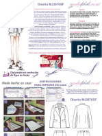 Instrucciones de Costura Del Conjunto Casual de Saco y Falda Mj3076sf
