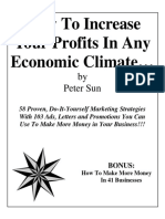 How to Increase Your Profits in Any Economic Climate
