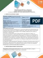 Syllabus del curso Administración Financiera