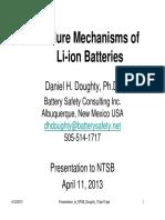 2013 Failure Mechanisms of Lithium Batteries FRM-Panel1d-Doughty
