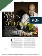 que comen los neurologos?