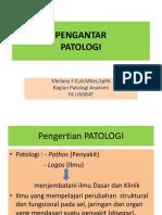 Pengantar PATOLOGI-Farmasi