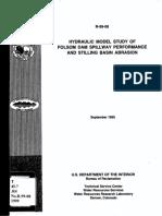 R-99-08 - Hydraulic Model Study of Folsom Dam Spillway Performance and Stilling Basin Abrasion