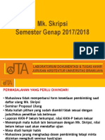 SOSIALISASI Peserta Mk. Skripsi Ganjil 2017-2018