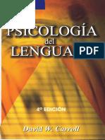 Psicología Del Lenguaje%2c d. Carroll
