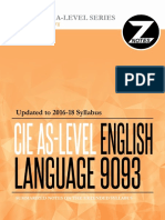 Cie as English Language 9093 Znotes