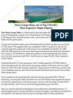 Three Gorges Dam, one of Top 3 World's  Most Expensive Single Objects