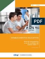 Guia Interpretacion Uso Resultados Saber 11 - Establecimientos Educativos 2017