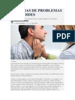 Síntomas de Problemas de Tiroides