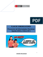 Plan de Comunicaciones-prevencion de Enfermedades Diarreicas y Colera (1)