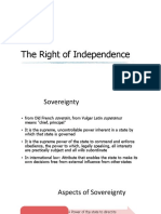 10 & 11 Right of Independence and Equality