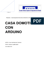 Sanclemente - Diseño de Casa Domótica Controlada Por Arduino