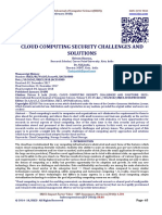 CLOUD COMPUTING SECURITY CHALLENGES AND SOLUTIONS
