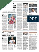 La Gazzetta Dello Sport 16-02-2018 - Intervista a Castrovilli