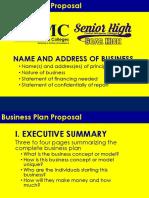 Businessplan Proposal Template