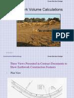 Lecture 17a Earthwork Estimation