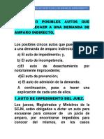 LOS CINCO  AUTOS QUE PUEDEN RECAER A UNA DEMANDA DE AMPARO INDIRECTO.docx