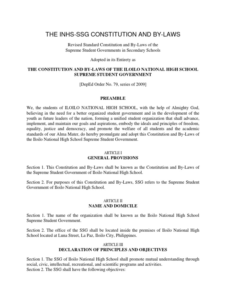 ssg constitution and bylaws 2018