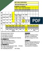 Timetable of Mba -III Sem