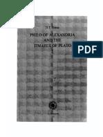 Philo of Alexandria and the Timaeus of Plato I