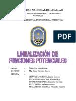 Linealización de funciones potenciales