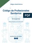 BOE-115 Codigo de Profesionales Sanitarios