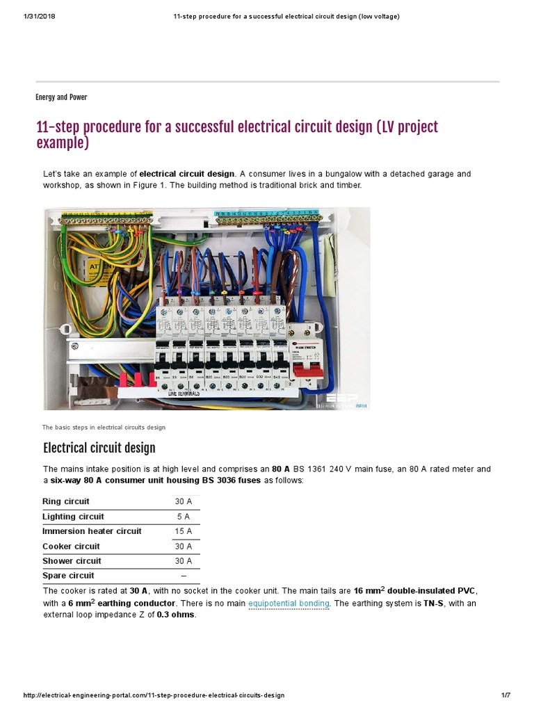 11 Step Procedure For A Successful Electrical Circuit Design Low Basic Home Wiring Voltage Fuse Insulator Electricity