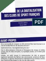 Baromètre de la digitalisation des clubs de sport français