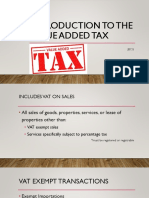 Chapter 6 Introduction to the Value Added Tax