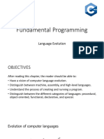 Fundamental Programming - Lecture 2 - Language Evolution