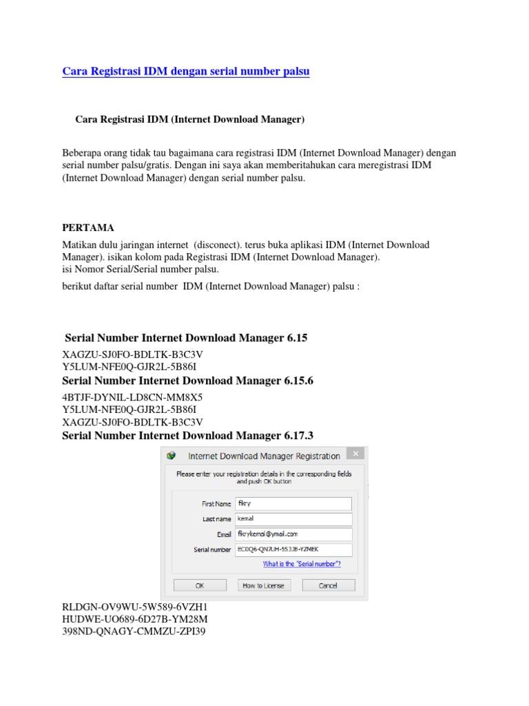 idm gratis tanpa serial number