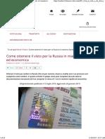 Come Ottenere Il Visto Per La Russia in Maniera Facile Ed Economica