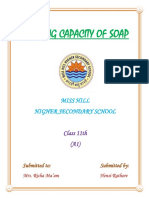 Investigatory file on foaming capacity of soaps
