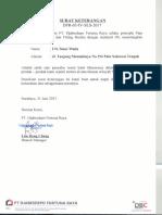 Surat Penunjukan Distributor Pipa