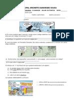 Avaliação de Língua Portuguesa - 6º Ano - III Unidade