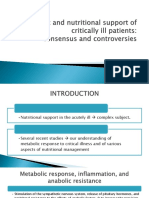 Metabolic and Nutritional Support of Critically Ill Patients PPT